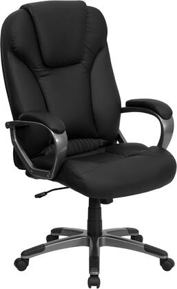 BT-9066-BK-GG High Back Black Leather Executive Office