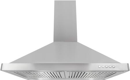 63190FT750-CFM 30 inch  Wall Mount Chimney Range Hood with 380 CFM  3 Speed Control  LED Lighting and Dishwasher Safe Baffle Filters  in Stainless