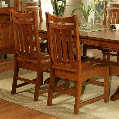 182006 Heartland Manor Side Chair Made From Solid American Red Oak in a Sedona
