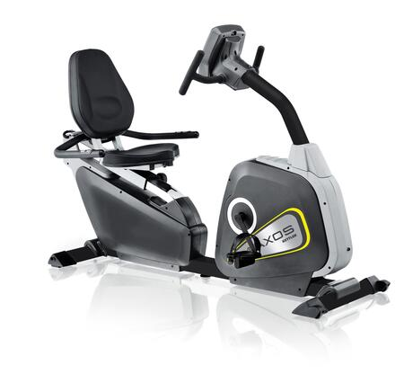 AXOS Cycle R 7986-897 Recumbent Exercise Bike with 12 Preset Programs  3 Heart-Rate Controlled Programs  Telemetric Hand Grips  Frictionless Motorized Magnetic