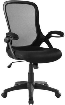 Assert Collection EEI-3189-BLK Office Chair with Adjustable Height  Swivel Seat  Five Dual-Wheel Casters  Flip-Up Padded Armrests  Mesh Back and Seat in Black