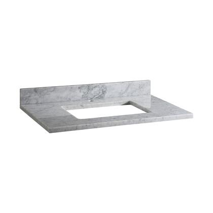 MAUT37RWT1_Stone_Top__37inch_for_Rectangular_Undermount_Sink__in_White_Carrara_Marble_with_Single_Faucet