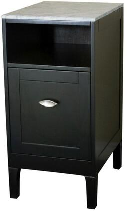 7711-ES-WH 16 inch  Cabinet Espresso with Marble Top in