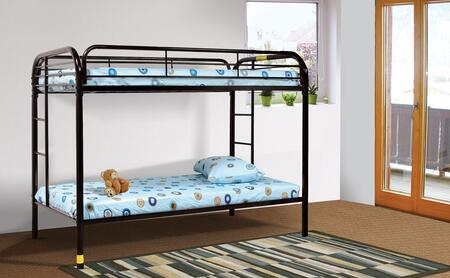 Sade Collection Twin Over Twin Bunk Bed with 2