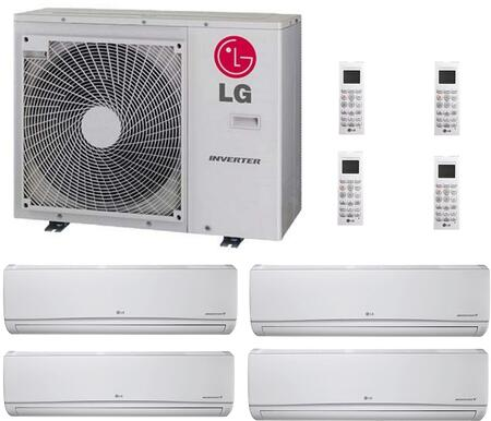 LMU30CHVPACKAGE54 Quad Zone Mini Split Air Conditioner System with 28000 BTU Cooling Capacity  4 Indoor Units  and Outdoor 706642