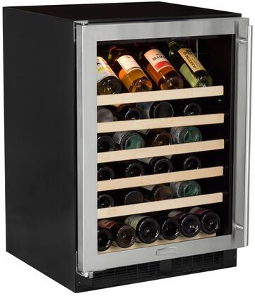 "ML24WSG0LS 24"" Single Zone Standard Efficiency Wine Cooler with 6.4 cu. ft. Capacity or 45 Bottle Capacity  Dynamic Cooling Technology  Vibration"