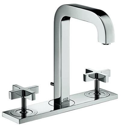 39134001 Axor Citterio Widespread Bathroom Faucet with Metal Cross Handles  and Pop-Up Drain  Less Escutcheon: