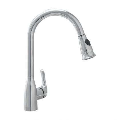 COS-KF776C Pull Down Single Kitchen Faucet with Pull Down Sprayer  Stainless Steel Braided Hose  Ceramic Disc Valve and Brass Construction  in Chrome