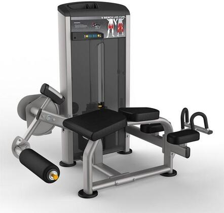 E-4988 Platinum Series 9521 V Bench Leg Curl Machine with 200 lbs. Incremental Weight Stack  Military Grade Cables and High-Tech Oval Tubing in Black and
