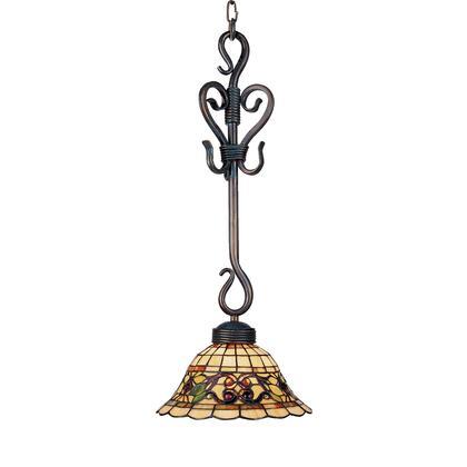 Elk Lighting 369-VA Tiffany Buckingham 1-Light Pendant In Vintage Antique /w Tiffany Style Glass (Shipping Included) 369-VA