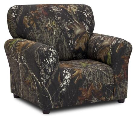19611RTX Club Chair with Horizontal Top Backrest and Slightly Rounded Corners: Mossy Oak  inch Break-Up inch