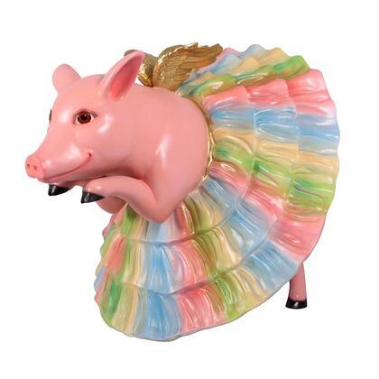 NE160247 Pavlova The Pig Ballerina Garden Statue
