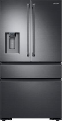 Samsung 22.7 Cu. Ft. 4-Door Flex French Door Counter-Depth Refrigerator Black stainless steel RF23M8090SG