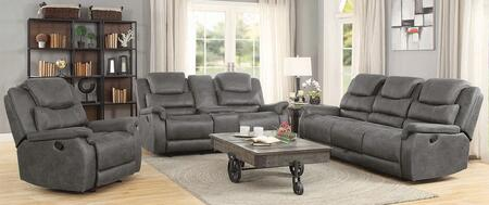 Wyatt Collection 602451-S3 3-Piece Living Room Set with Reclining Sofa  Reclining Loveseat and Recliner in
