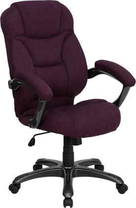 GO-725-GRPE-GG High Back Grape Microfiber Upholstered Contemporary Office