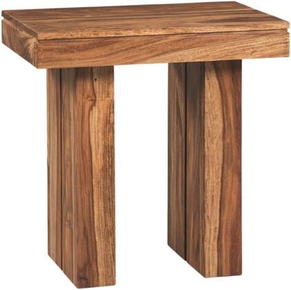 Occasional Groups Collection 705847 23 inch  End Table with Simple Lines  Rectangular Shape and Solid Sheeshan Construction in Natural Sheeshan