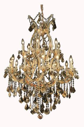 2800D32G-GT/RC 2800 Maria Theresa Collection Hanging Fixture D32in H42in Lt: 18+1 Gold Finish (Royal Cut Golden