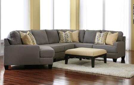 Chamberly 24302-08-76-34-77-56 2-Piece Living Room Set with 4PC Left Cuddler Sectional Sofa and Accent