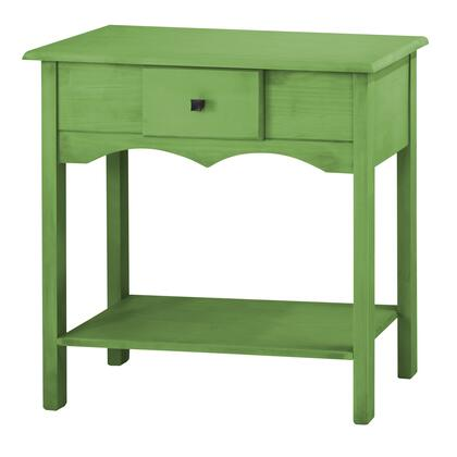 "CS50204 Jay 31.49"" Tall Sideboard with 1 Full Extension Drawer in Green"