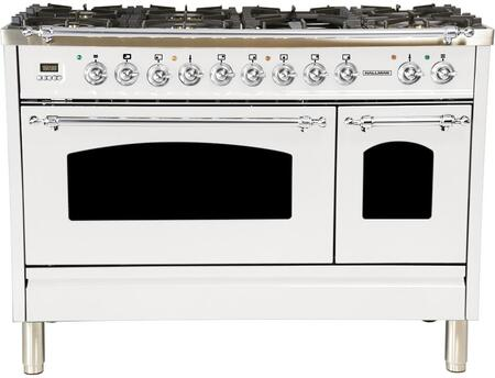 HGR4801DFWT 48 inch  Dual Fuel Natural Gas Range with 7 Sealed Burners  5 cu. ft. Total Capacity True Convection Oven  Griddle  in