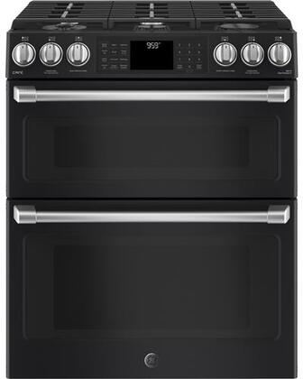 CGS995EELDS 30 inch  Slide In Front Control Double Oven with Convection Gas Range  6.7 cu. ft. Capacity  21 000 BTU Multi-Ring Burner  Wi-Fi Connect  and Chef