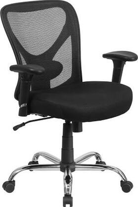 HERCULES Series 400 lb. Capacity Big & Tall Black Mesh Office Chair with Height Adjustable Back and Arms