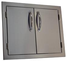 SODX2AD24 20 inch  x 24 inch  Deluxe Double Door with Raised Reveal Design and 3/8 inch  Self Rimming Trim Bezel  Stainless
