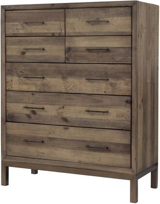 Bianco Collection 1170003 Chest with 7 Drawers  Hand Painted Steel and Water-Based Coating Finish in Rustic