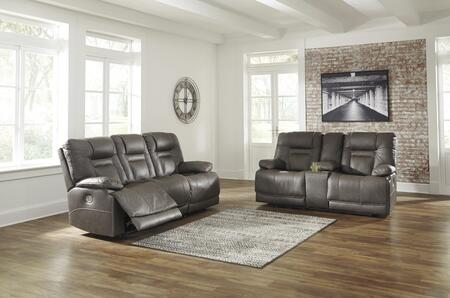 Wurstrow Collection U54602SL 2-Piece Living Room Set with Reclining Sofa  and Loveseat in