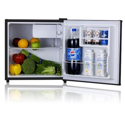WHS-65L 1.6 CF. Compact Single Reversible Door Refrigerator with Convenient Racks  Separate Chiller Compartment and Mechanical Control with Adjustable