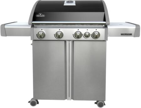 "T495SBPK 56"" Triumph 495 Series Freestanding Liquid Propane Grill with 4 Stainless Steel Burners  Range Side Burner  665 sq. in. Cooking Surface  Accu-probe"