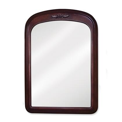 MIR031 Bath Elements 21 inch  X 30 inch  Merlot Emilia Mirror with Floral onlay and Beveled