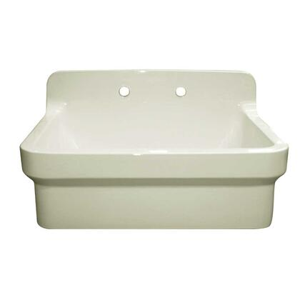 WHCW3022-8-BISCUIT Countryhaus Fireclay Utility Sink with High