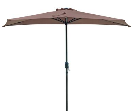 NU5409CF Lanai 9' Half Market Umbrella with 30 sq. ft. of Shade  1.5 inch  Diameter Aluminum Pole  Powder Coated Finish and Stainless Steel Secure Locking Button in