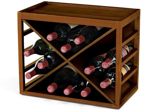 06400103 Bottle X Cube-Stack Wine Rack: Walnut