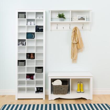 WUSR-0009-1-BCSV 3-Piece Shelf Set with Wall Mount Rack  Shelf and Storage Rack in