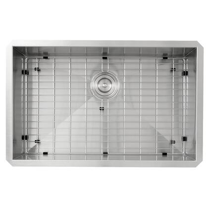 Pro Series ZR2818-16 - 28 Large Rectangle Single Bowl Undermount Zero Radius Stainless Steel Kitchen