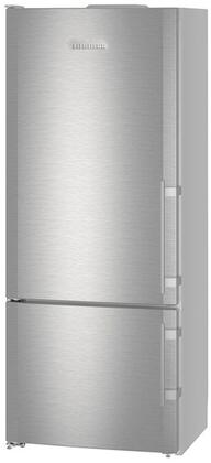 "CS1410L 30"" Energy Star Rated Freestanding Left Hinge Bottom Freezer Refrigerator with 14.6 cu. ft. Total Capacity  DuoCooling  and 3 Glass Refrigerator"