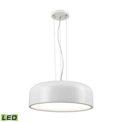 LC2201-N-30 Kore 1 Light LED Pendant In White With Acrylic