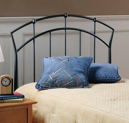 Vancouver Collection 1024HTWR Twin Size Headboard with Rails  Open-Frame Panel Design and Sturdy Metal Construction in Antique