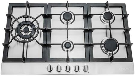 "850SLTX-E 30"" Gas Cooktop with 5 Sealed Burners  Cast Iron Grates  Electronic Ignition  Flame Failure Safety Device and Easy-to-Clean Construction in Stainless"