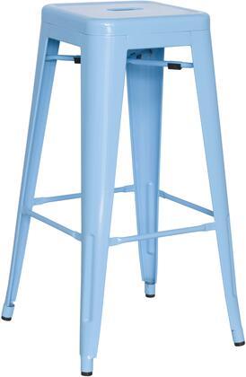 8015-BS-BLU 30 Galvanized Steel Bar Stool in Sky