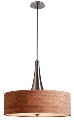 93013BS Bulletin 3 Light Pendant in Brushed Steel