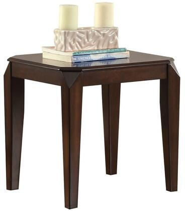 Docila Collection 80662 23 inch  End Table with Tapered Legs  Poplar Wood and Basswood Veneer in Walnut