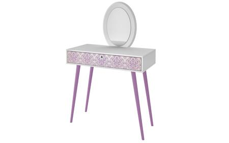 90AMC140 Mora 35.43in. Vanity with Mirror in White and