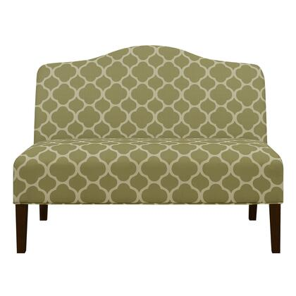 DSD153714574 Armless Arched Back Lime Upholstered Settee In