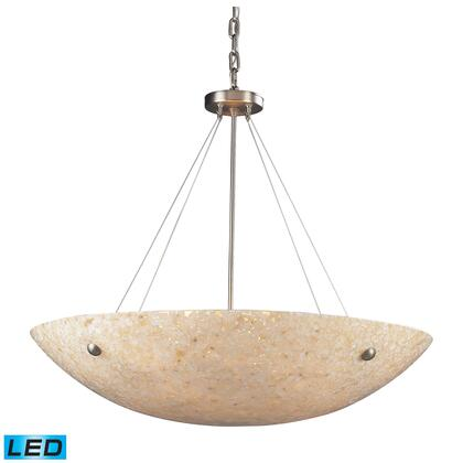 Click here for 8888/8-LED 8 Light Pendant in Satin Nickel and Pea... prices