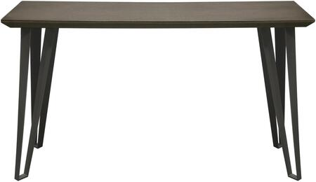 Sigma SIGMACS 16 inch  x 51 inch  Rectangular Console Table with Chestnut Veneer Top with Tapered Apron and Grey Powder Coat Iron