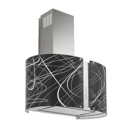 IS34MURECHOLED 34 inch  Murano Echo Series Range Hood offer 940 CFM  4-Speed Electronic Controls  Delayed Shut-Off  Filter Cleaning Reminder  and in Stainless