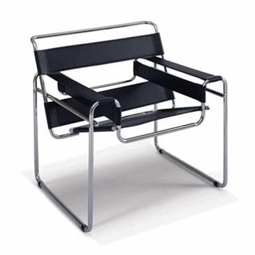 FMI2121-black Strap Chair